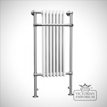 Cass classic tall heated towel rail - 1130x553mm in a chrome finish