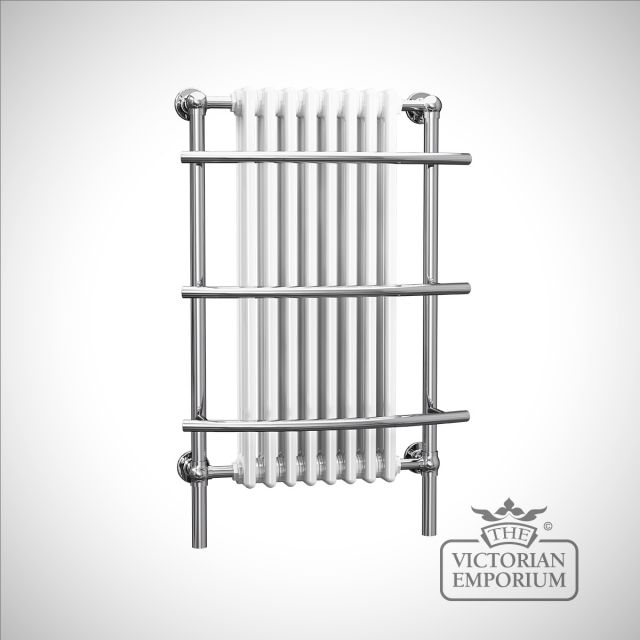 Cass classic heated towel rail with extra rails - 1000x630mm in a chrome finish