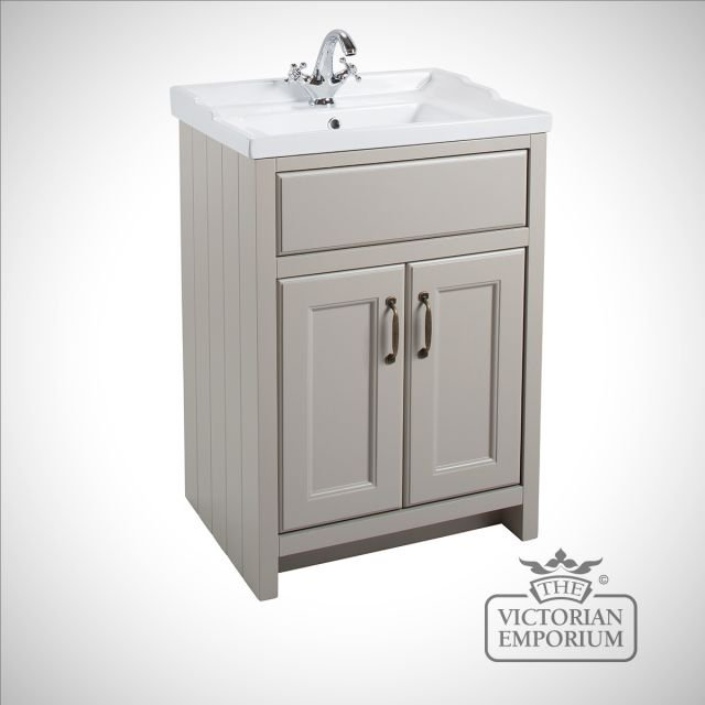 Cass Classic Cloakroom freestanding basin unit with doors