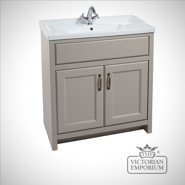Cass Classic Wide freestanding basin unit with doors