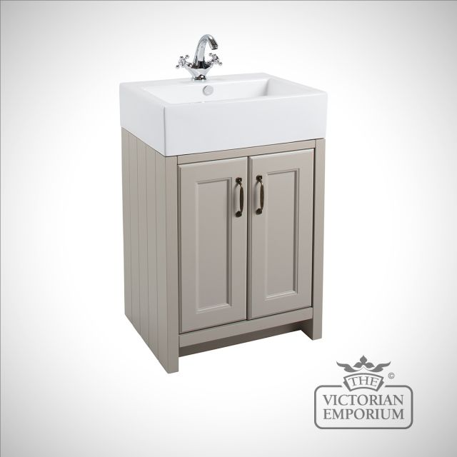 Cass Classic freestanding basin unit with doors with large basin