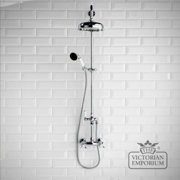 Quince traditional rigid riser kit with shower valve