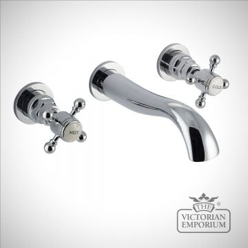 Belgravia Traditional Wall Mounted Basin Mixer