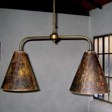 Snooker lamp copper shades
