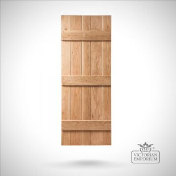 Ledged & Braced Solid Oak Bead & Butt Internal Door
