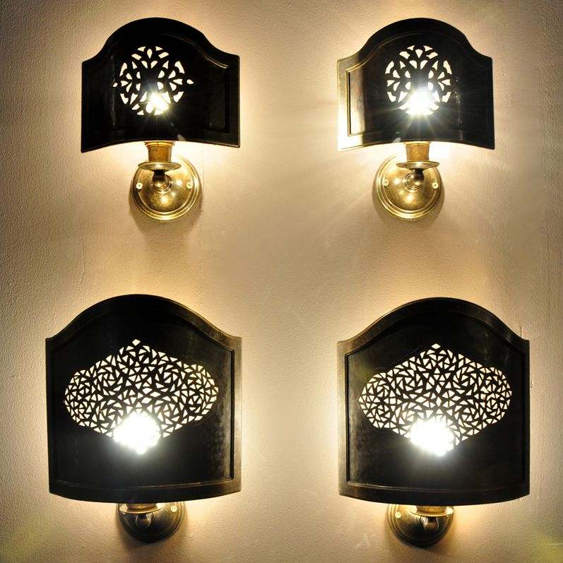 Small copper wall screen - Interior Wall Lights