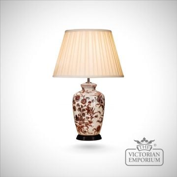 Red Willow pattern lamp
