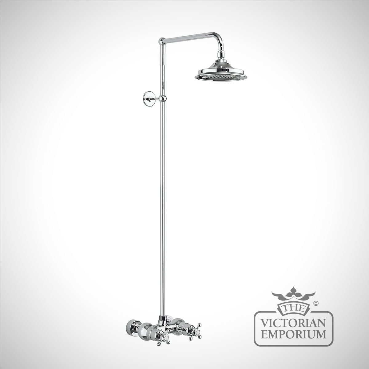 Dorset Thermostatic Exposed Shower Bar Valve Single Outlet