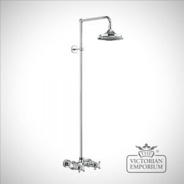Dorset Thermostatic Exposed Shower Bar Valve Single Outlet with Rigid Riser and Swivel Shower Arm
