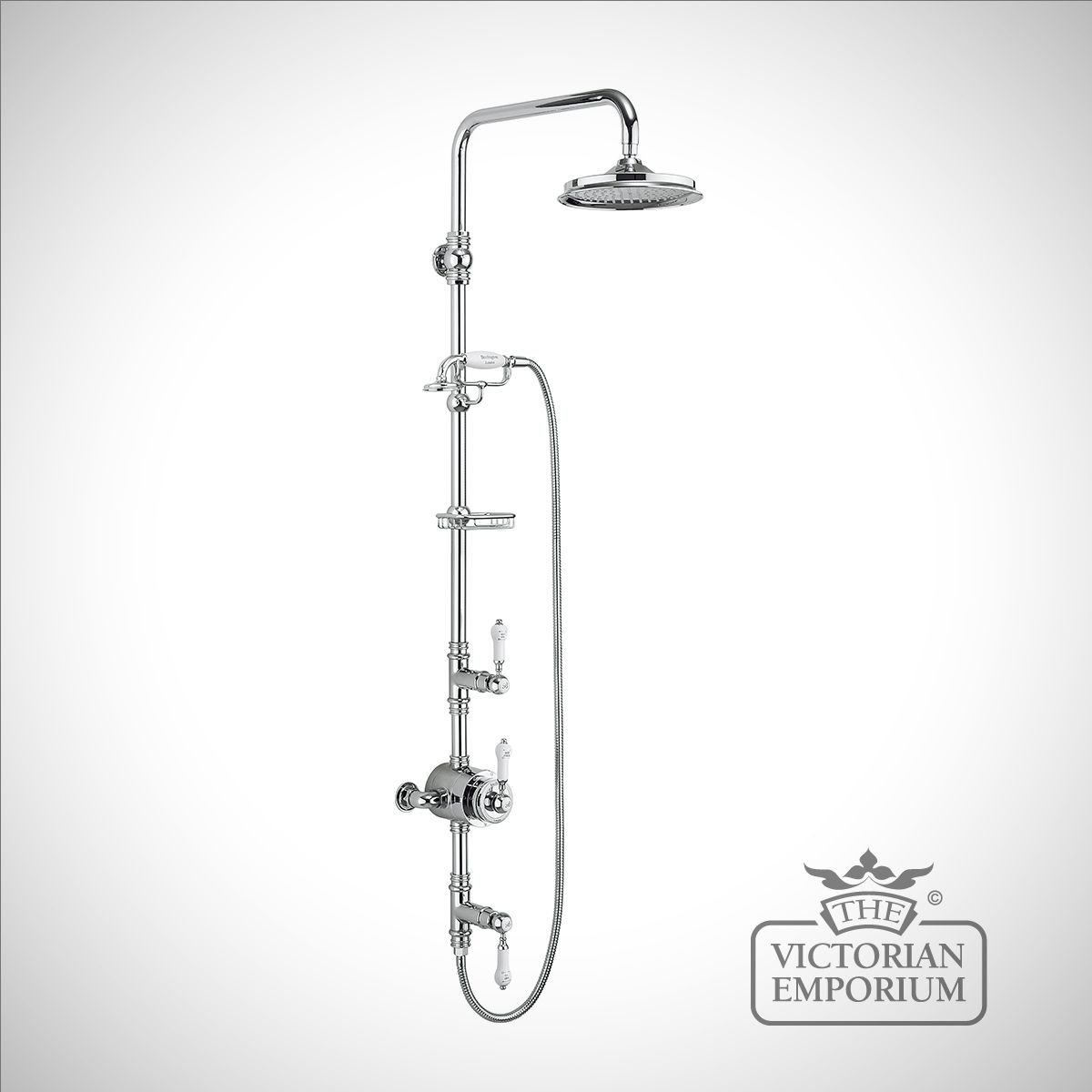 Stowe Thermostatic Exposed Shower Valve Two Outlet, Rigid Riser ...
