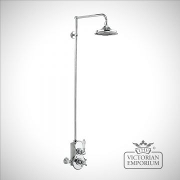 Speyside Thermostatic Exposed Shower Valve Single Outlet with Rigid Riser and Swivel Shower Arm