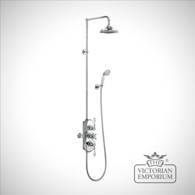 Speyside Thermostatic Exposed Shower Valve Two Outlet,Rigid Riser, Swivel Shower Arm, Handset