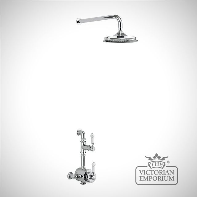 Stowe Thermostatic Exposed Shower Valve Single Outlet with Fixed Shower Arm with 6 inch rose