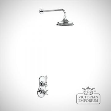 Estuary Thermostatic Single Outlet Concealed Shower Valve with Fixed Shower Arm