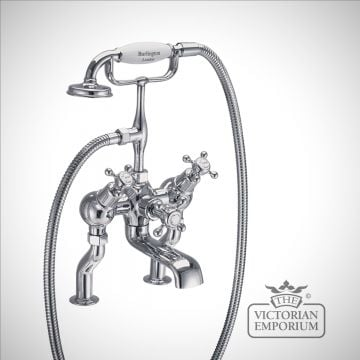 Clearmont Angled Deck mounted bath and shower mixer