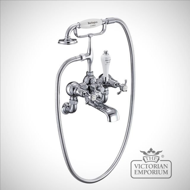 Anglesy Wall mounted bath and shower mixer