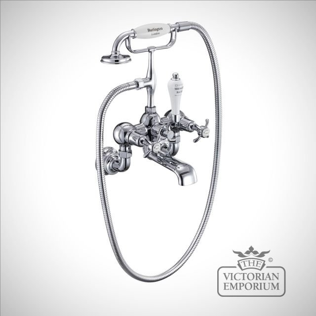 Anglesy Regent Wall mounted bath and shower mixer
