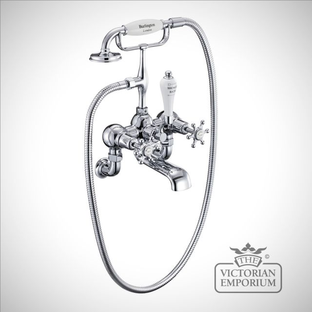 Liverpool Wall mounted bath and shower mixer
