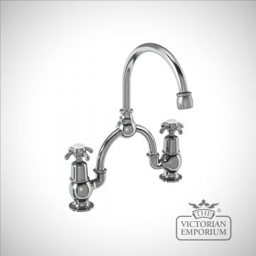 Anglesy 2 tap hole arch mixer with curved spout