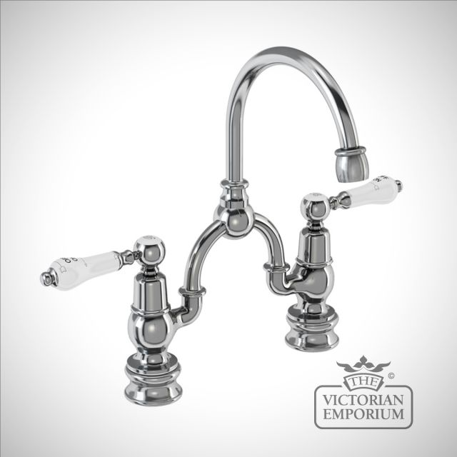 Knightsbridge Regent 2 tap hole arch mixer with curved spout