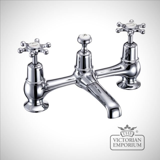 Liverpool 2 tap hole bridge basin mixer