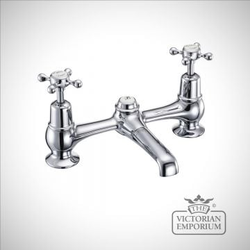 Clearmont 2 tap hole bridge basin mixer