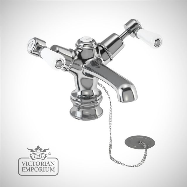 Knightsbridge Regent basin mixer with plug and chain waste