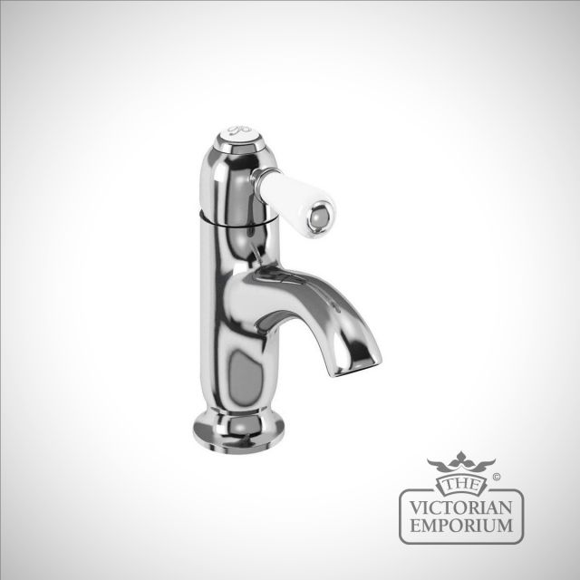 Fulham curved spout basin mixer