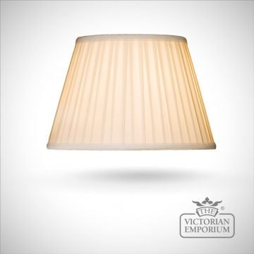 Cotton Box Pleat Ivory Lamp Shade