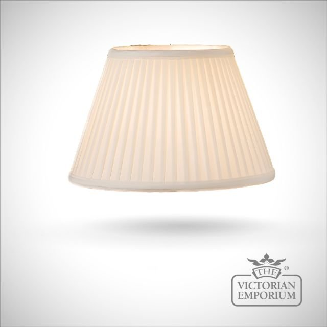 Cotton Fine Pleat Ivory Lamp Shade