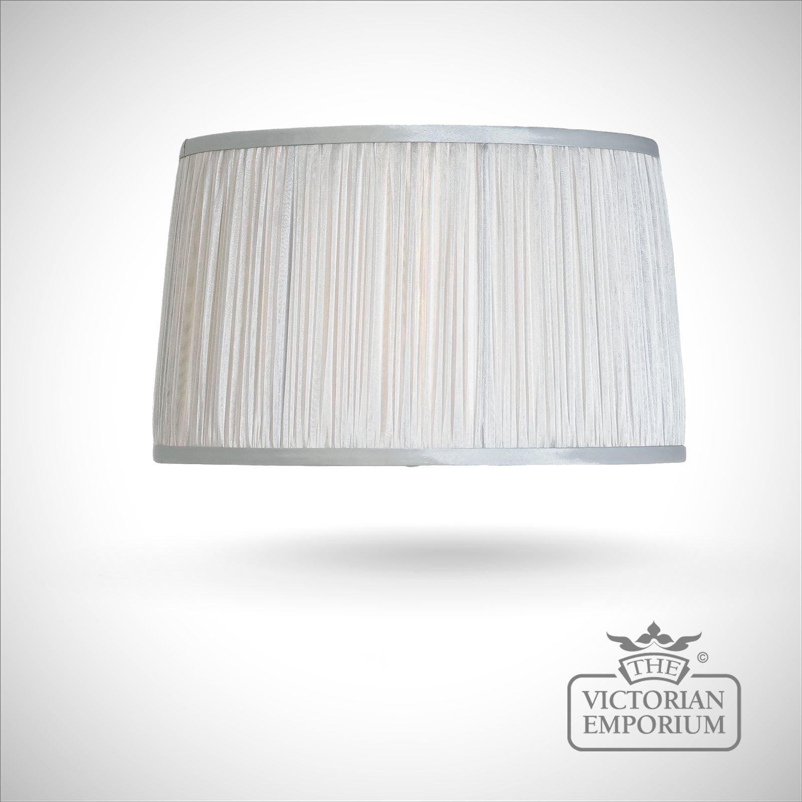 Silver chiffon lamp shade lamp shades the victorian emporium silver chiffon lamp shade aloadofball Gallery
