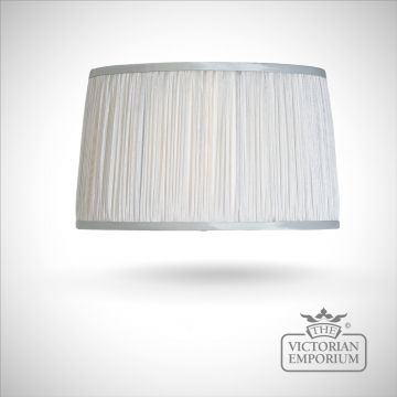 Silver Chiffon Lamp Shade