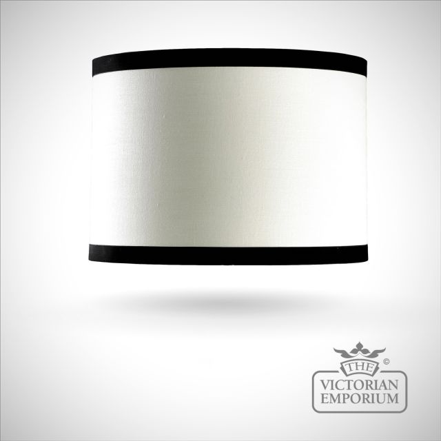 Cylinder Shade in off white and black - 36cm