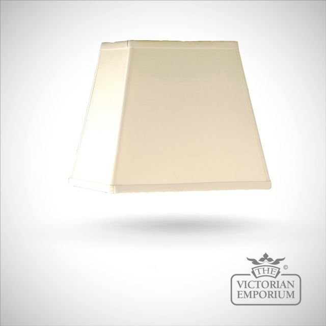 Cotton Rectangular Shade in Oyster - 23cm
