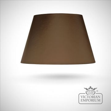 Empire Shade in Brown with gold card lining - 51cm