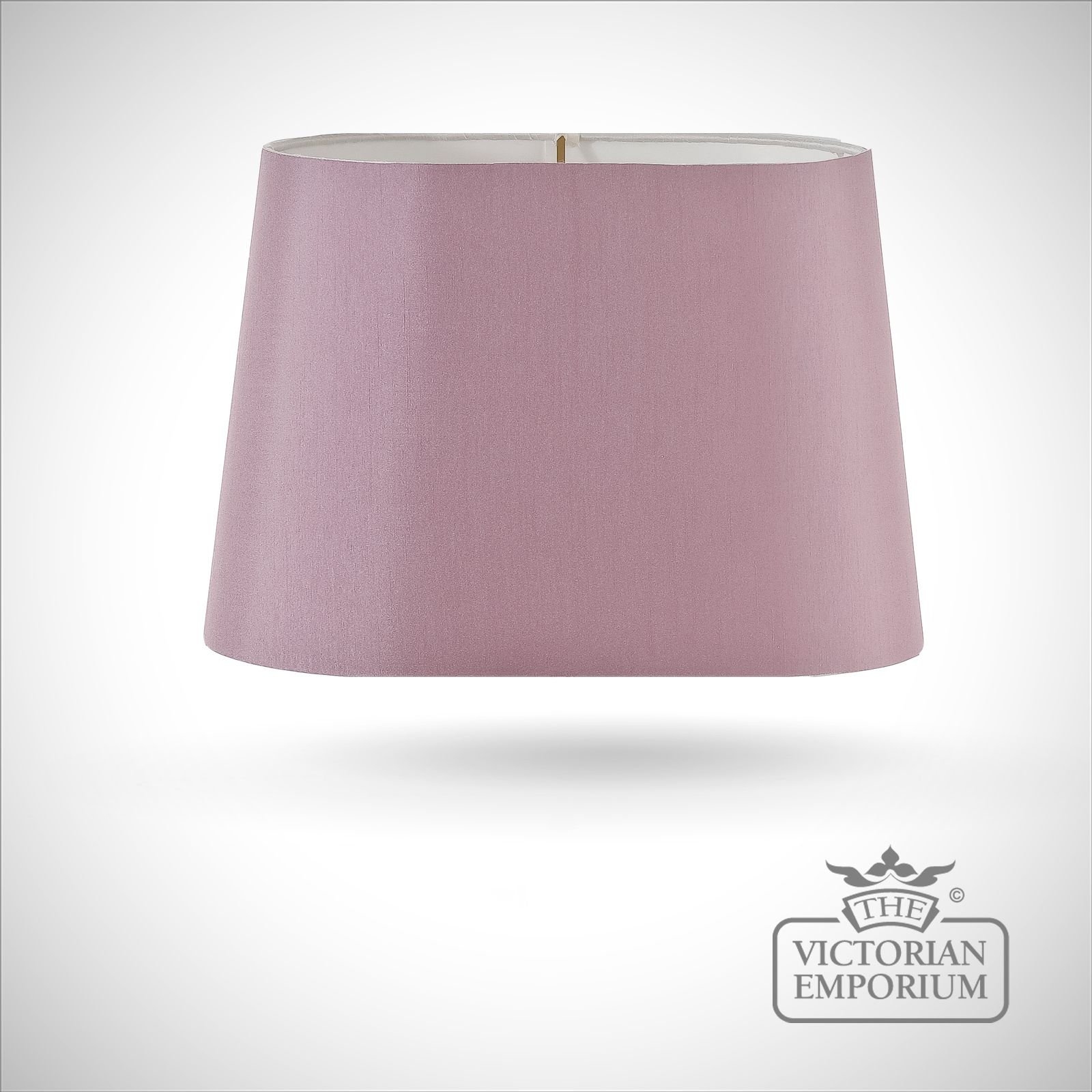 Tapered Oval Lamp Shade In Amethyst 39cm Lamp Shades