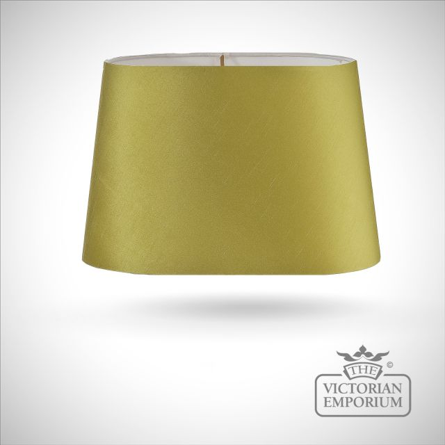 Tapered Oval Lamp Shade in Lime Green - 39cm