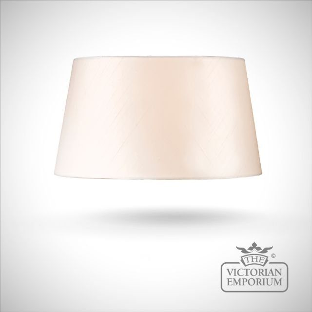 Tapered Cylinder Lamp Shade in Oyster - 43cm