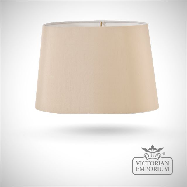 Tapered Oval Lamp Shade in Camel - 39cm
