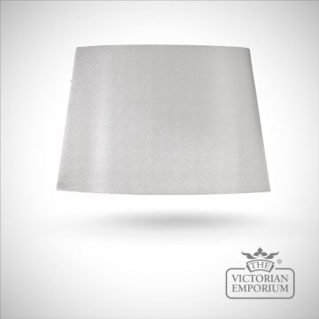 Tapered Oval Lamp Shade in Silver with Silver Lining - 39cm