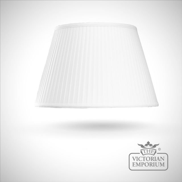 Cotton Fine Pleat Lamp Shade in Ivory - 46cm