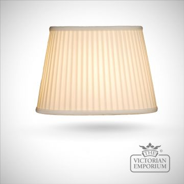 Cotton Fine Pleat Oval Lamp Shade in Ivory - 36cm
