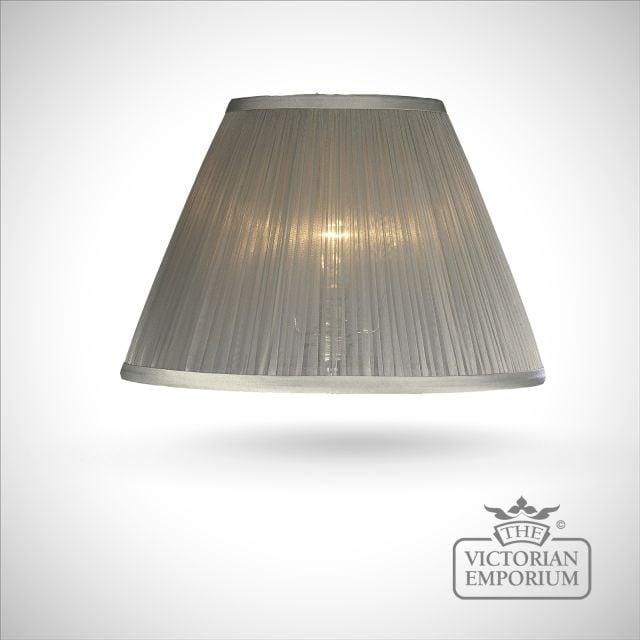 Silver Chiffon Lamp Shade - 36cm