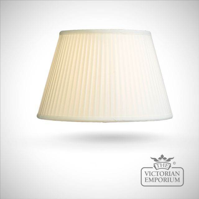 Cotton Fine Pleat Lamp Shade in Ivory - 41cm