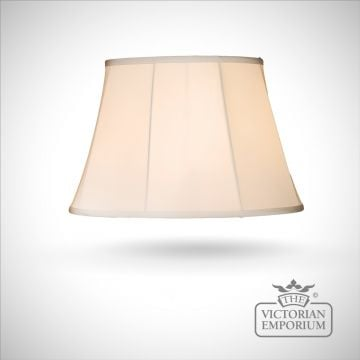 Kemp 18 Inch Oval Lamp Shade In Beige Or Black