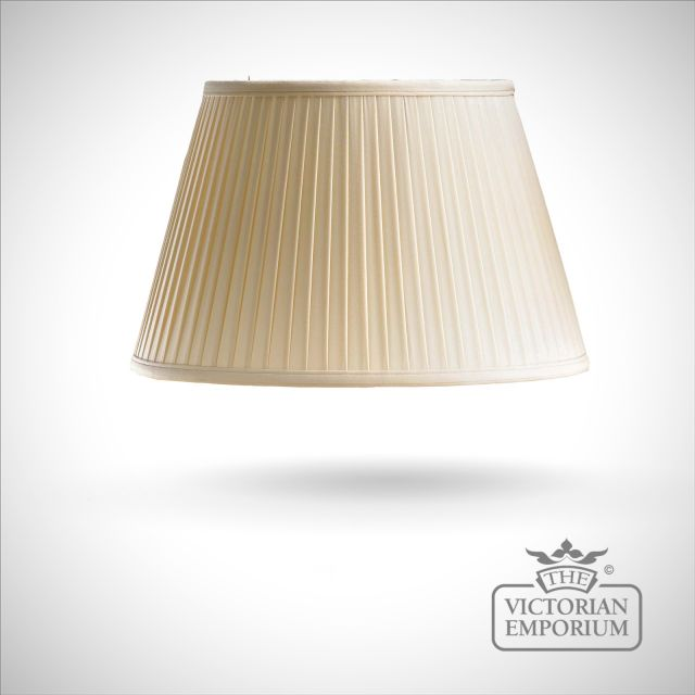 Oyster Cotton Fine Pleat Lamp Shade - 41cm