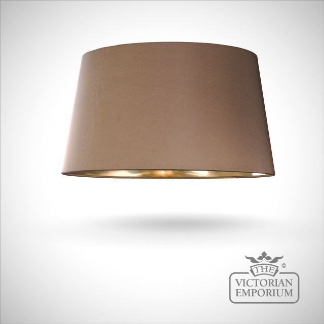 Brown Lamp Shade with Gold Lining - 43cm