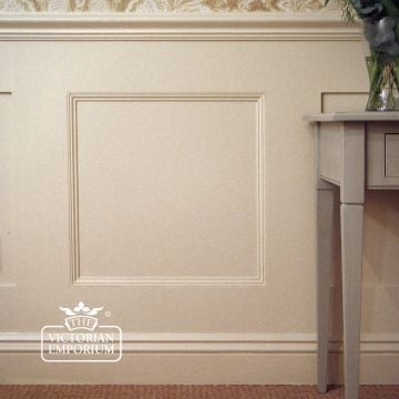 Large open square half height wall panelling