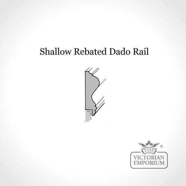 Shallow rebated dado for panelling kits