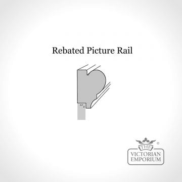 Rebated picture rail for panelling kits